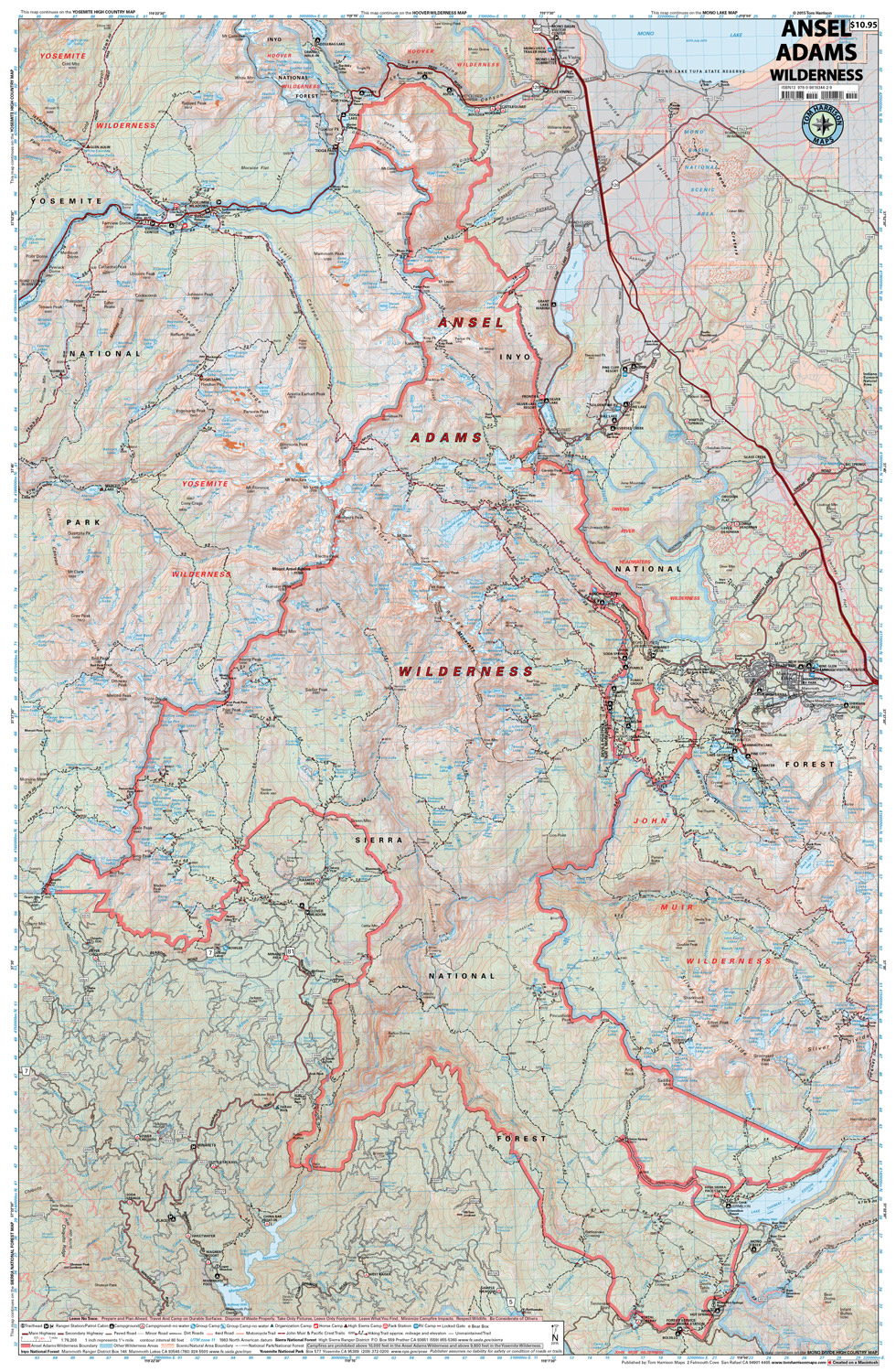 ansel adams wilderness. ansel adams wilderness – tom harrison maps