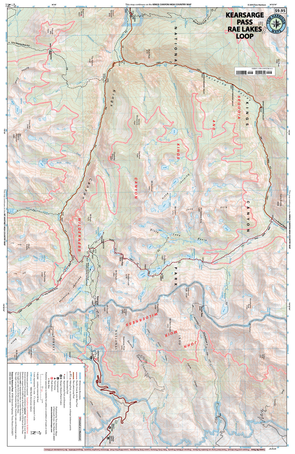 kearsarge . kearsarge passrae lakes loop – tom harrison maps