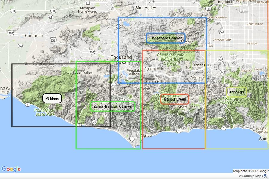 Point Mugu California Map.Pt Mugu State Park Tom Harrison Maps